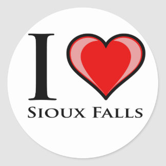 I Love Sioux Falls Classic Round Sticker