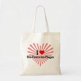 I Love Six-Fours-les-Plages, France Canvas Bag