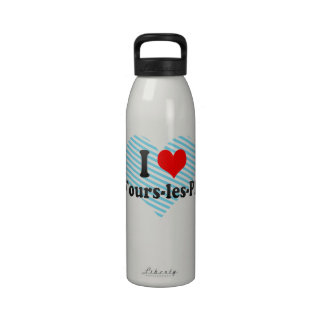 I Love Six-Fours-les-Plages, France Drinking Bottle