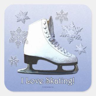 I Love Skating Square Sticker