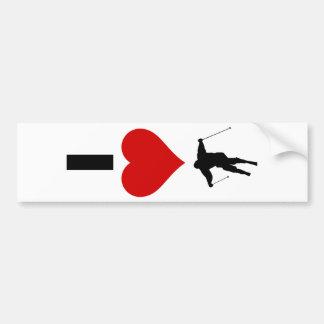 I Love Ski (Vertical) Bumper Sticker