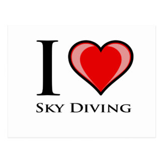 I Love Sky Diving Postcard