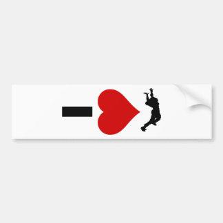 I Love Skydiving (Vertical) Bumper Sticker