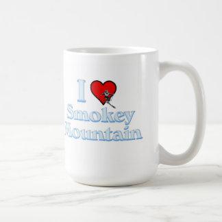 I love Smokey Mountain Basic White Mug