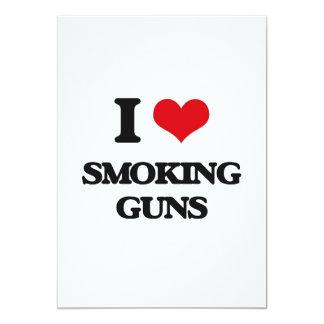 I love Smoking Guns 13 Cm X 18 Cm Invitation Card