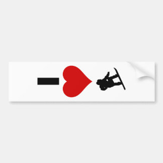 I Love Snowboarding (Vertical) Bumper Sticker