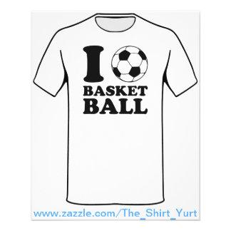 I Love Soccer Ball Basketball 11.5 Cm X 14 Cm Flyer
