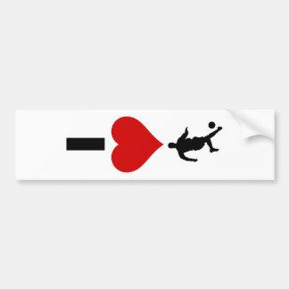 I Love Soccer (Vertical) Bumper Sticker