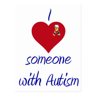 I love someone w Autism Postcard