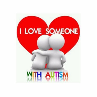 I Love Someone With Autism Cut out Magnet