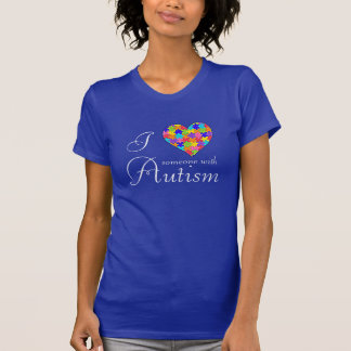 """I Love Someone with Autism"" Heart Pieces T-Shirt"