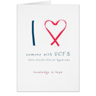 I love someone with VCFS - ribbon Card