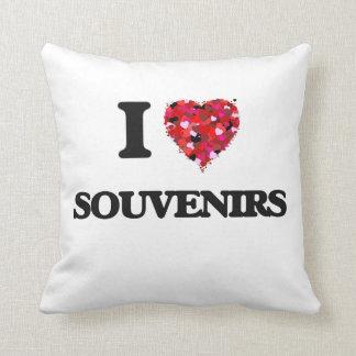I Love Souvenirs Throw Cushion