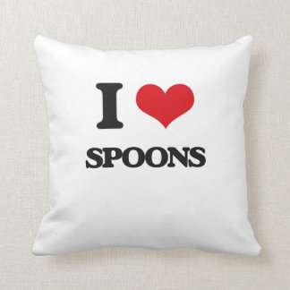 I Love Spoons Pillow