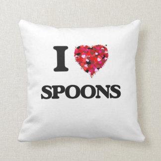 I Love Spoons Throw Cushion
