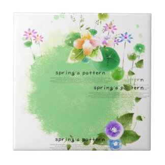 I Love Spring Small Square Tile