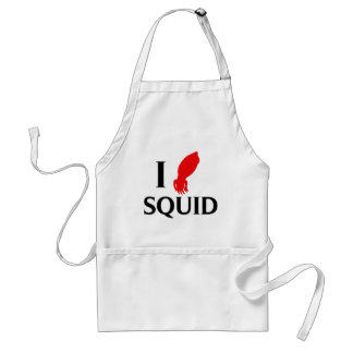 I Love Squid Standard Apron
