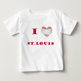 I Love St. Louis Baseball Baby T-Shirt