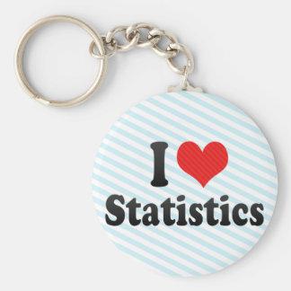 I Love Statistics Basic Round Button Key Ring