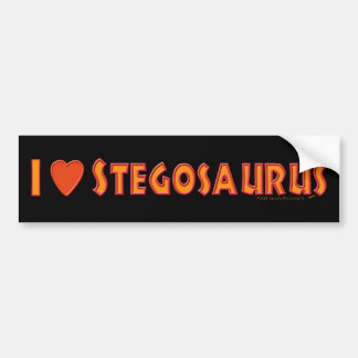 I Love Stegosaurus Dinosaur Lovers Bumper Sticker