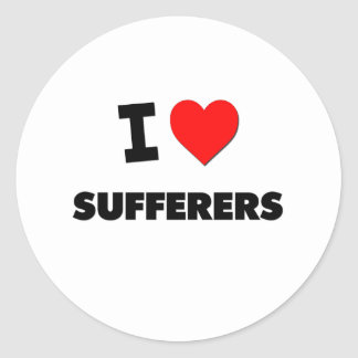I love Sufferers Round Stickers