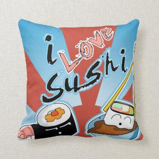 I Love Sushi Cartoon Sushi Cushion