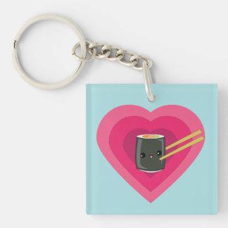 I Love Sushi Kawaii Sushi Roll keychain Acrylic Key Chain