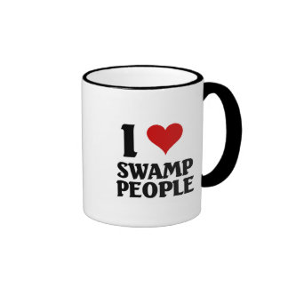 I love Swamp People Ringer Mug