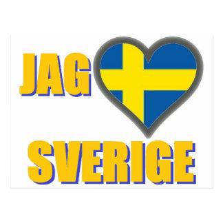 I Love Sweden (Jag Älskar Sverige) Postcard