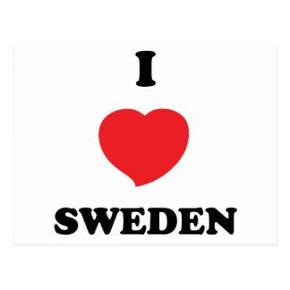 I LOVE Sweden Postcard