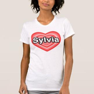 I love Sylvia. I love you Sylvia. Heart T-Shirt