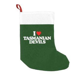 I LOVE TASMANIAN DEVILS SMALL CHRISTMAS STOCKING