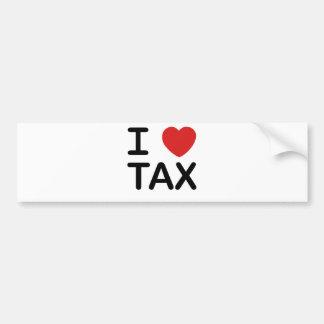 I Love Tax Bumper Sticker