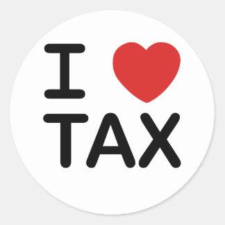 I Love Tax Classic Round Sticker