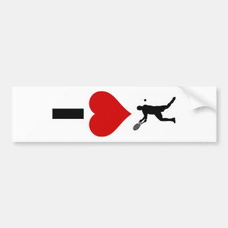 I Love Tennis Vertical (Male) Bumper Sticker