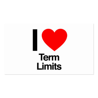 i love term limits pack of standard business cards