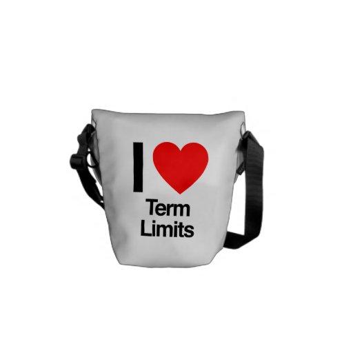 i love term limits messenger bags