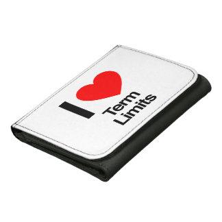 i love term limits leather tri-fold wallet