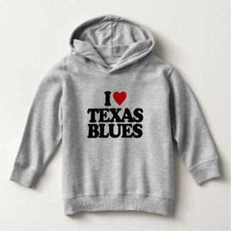 I LOVE TEXAS BLUES HOODIE