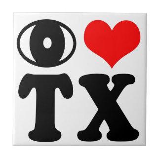 I love Texas Small Square Tile