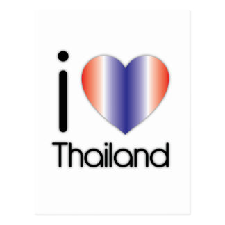 I Love Thailand Products Postcard