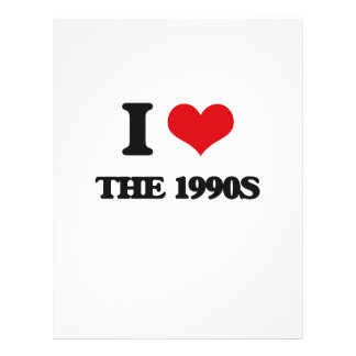 """I love The 1990S 8.5"""" X 11"""" Flyer"""