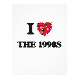 I love The 1990S 21.5 Cm X 28 Cm Flyer