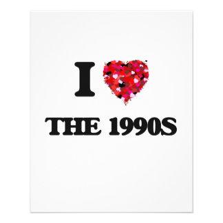 I love The 1990S 11.5 Cm X 14 Cm Flyer