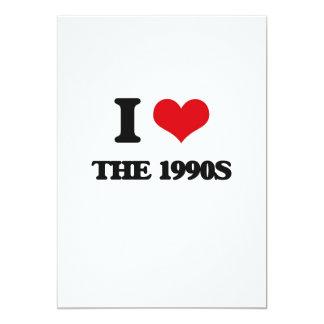 I love The 1990S 13 Cm X 18 Cm Invitation Card
