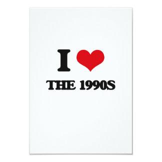 "I love The 1990S 3.5"" X 5"" Invitation Card"