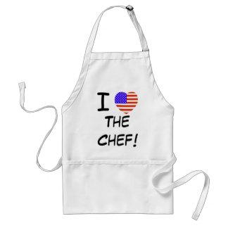 I Love The Chef! BBQ Apron