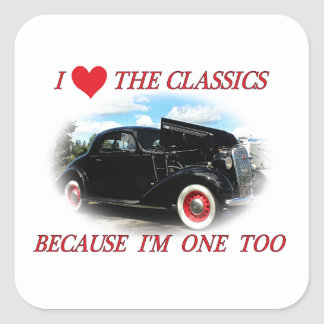 I Love The Classics 2 Square Sticker