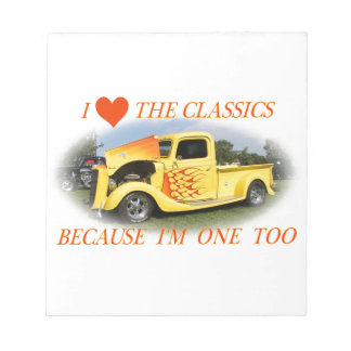 I Love The Classics Notepad