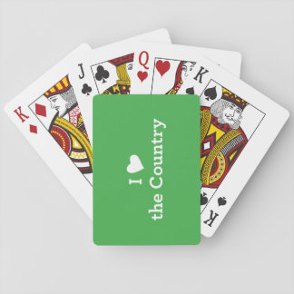 I Love the Country Playing Cards